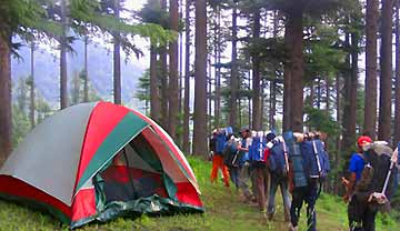 trekking and camping in himachal, adventure holidays in himachal